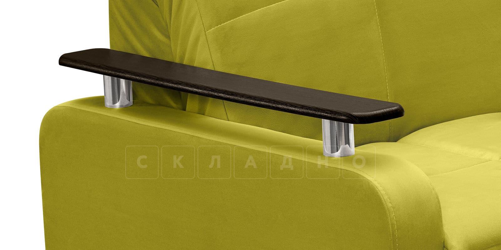 Диван прямой Денвер велюр оливковый фото 6 | интернет-магазин Складно