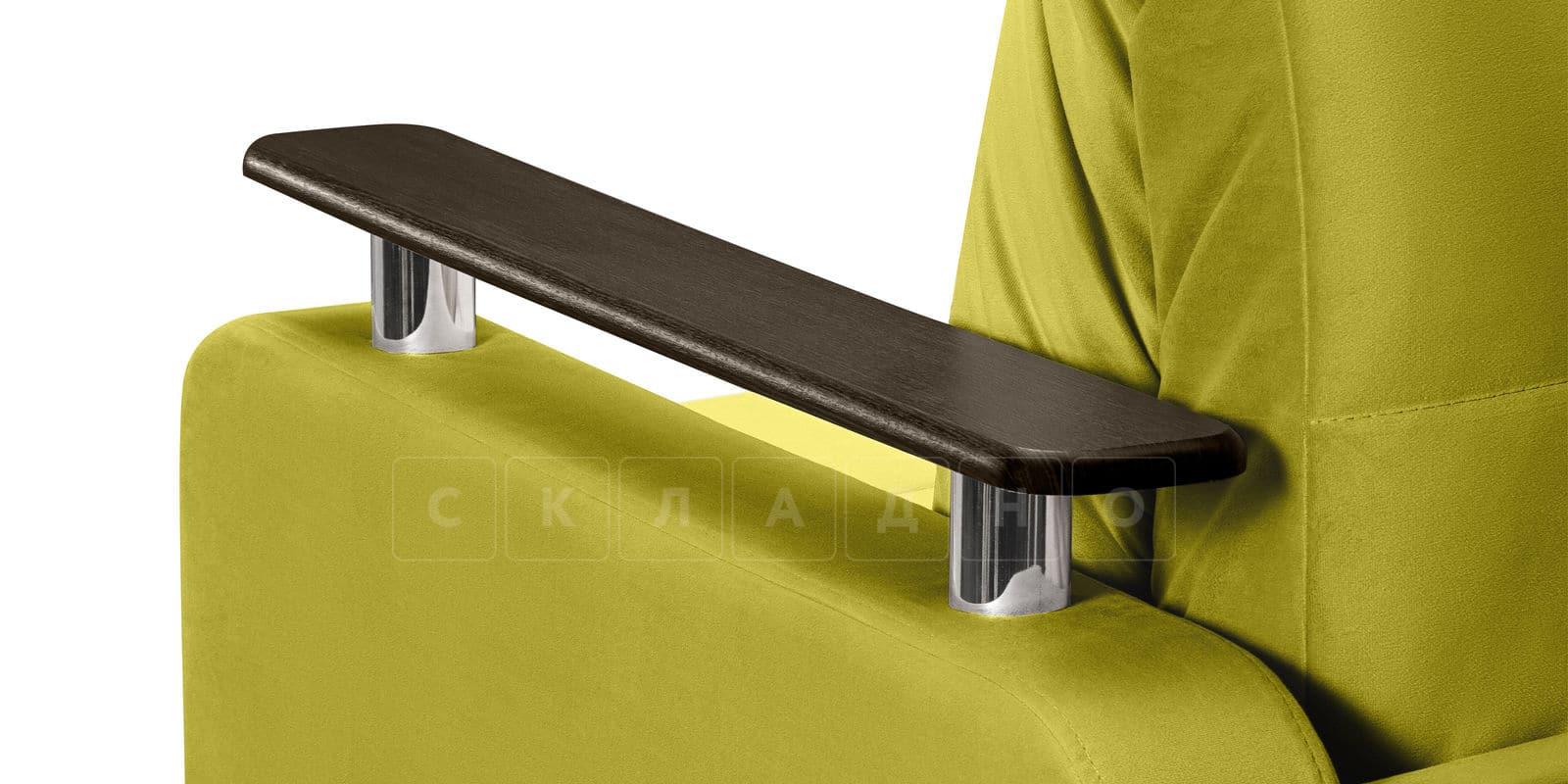 Диван прямой Денвер велюр оливковый фото 7 | интернет-магазин Складно
