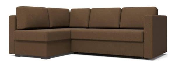 Угловой диван Джессика коричневый левый фото | интернет-магазин Складно