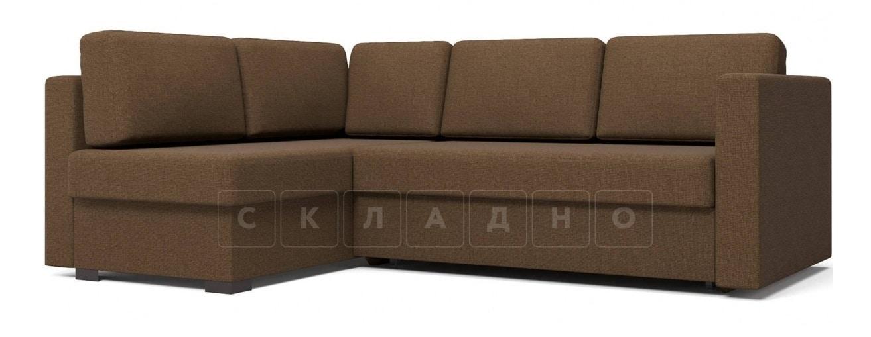 Угловой диван Джессика коричневый левый фото 1 | интернет-магазин Складно
