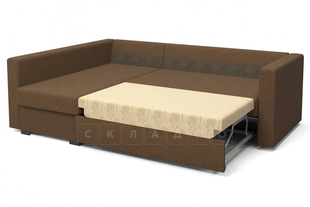 Угловой диван Джессика коричневый левый фото 5 | интернет-магазин Складно