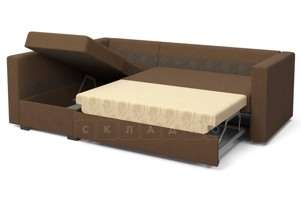 Угловой диван Джессика коричневый левый фото 6 | интернет-магазин Складно