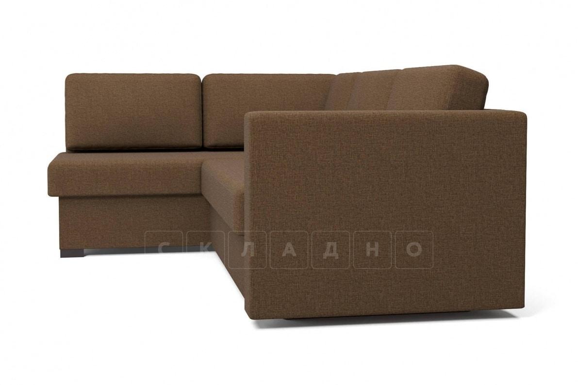 Угловой диван Джессика коричневый левый фото 3 | интернет-магазин Складно