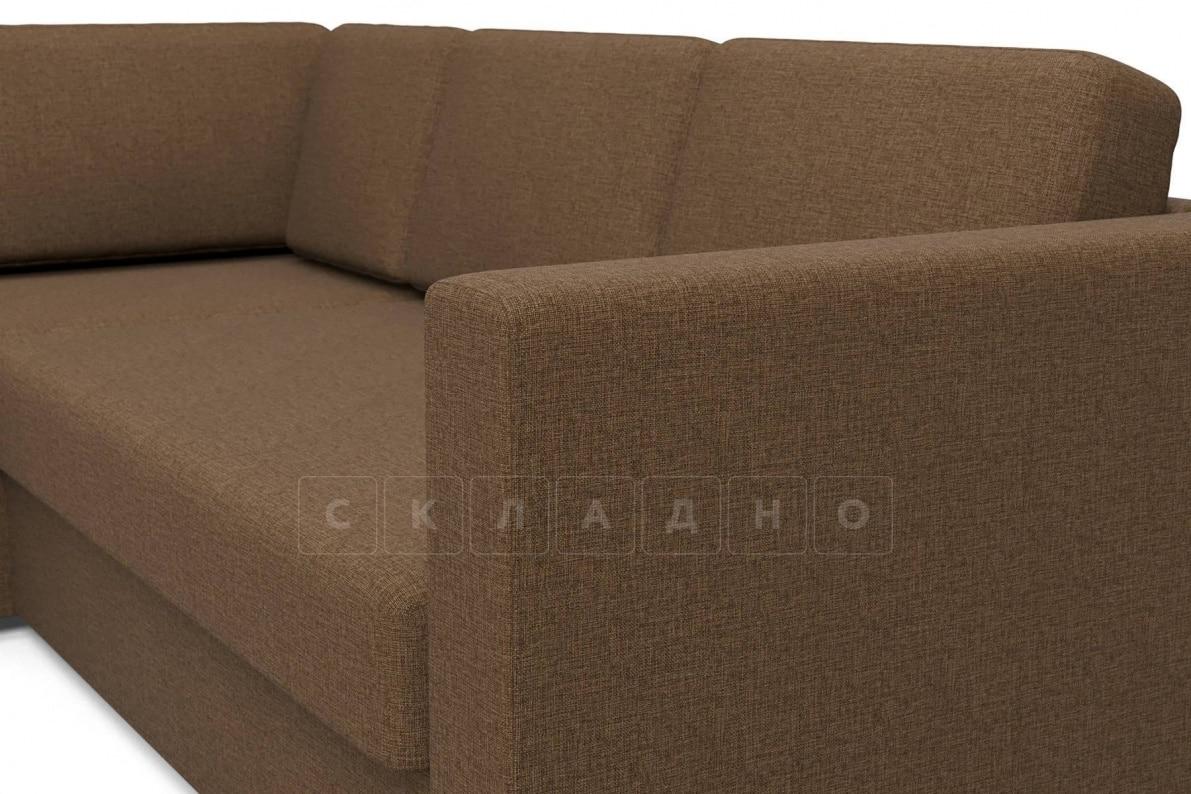 Угловой диван Джессика коричневый левый фото 4 | интернет-магазин Складно