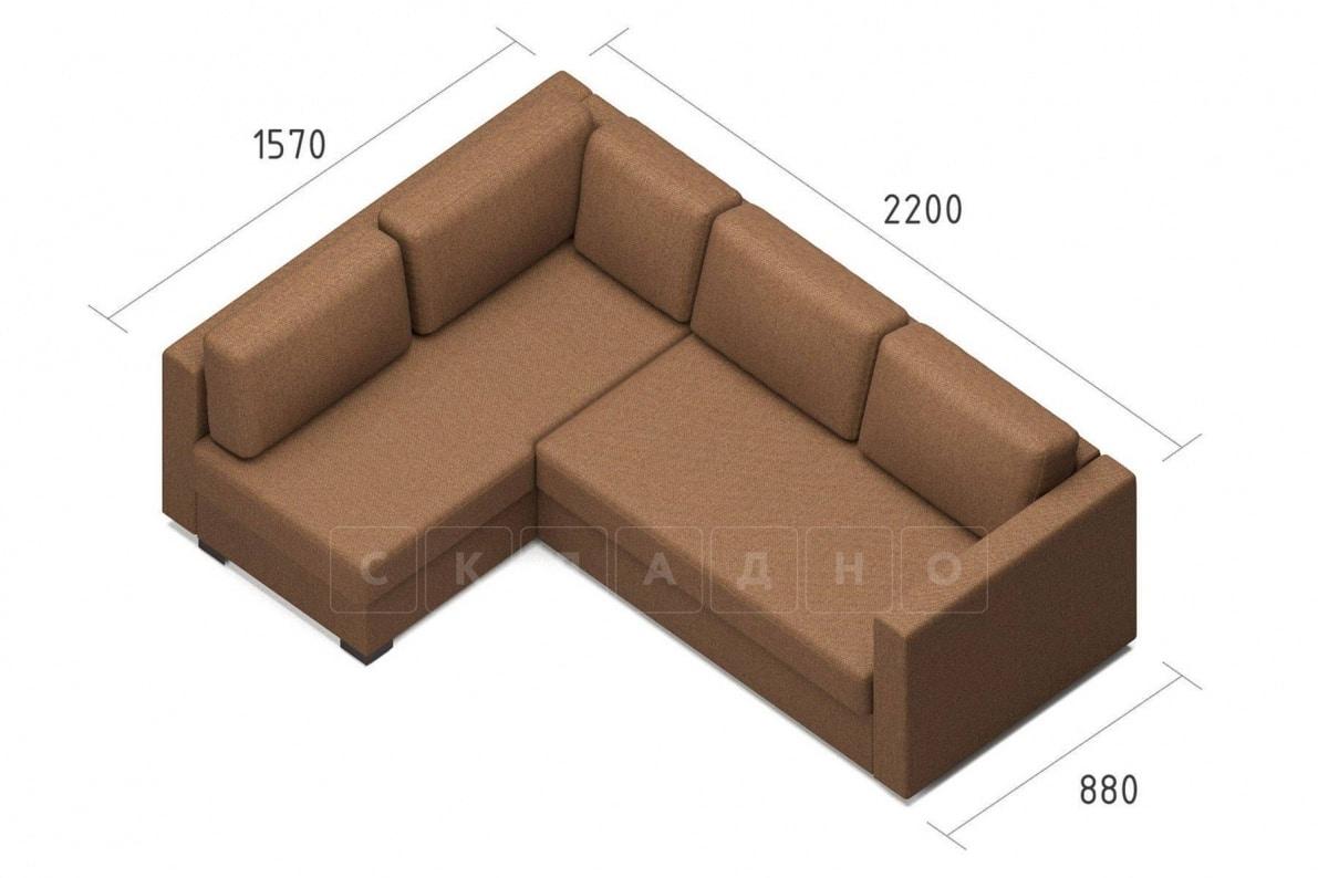 Угловой диван Джессика коричневый левый фото 7 | интернет-магазин Складно