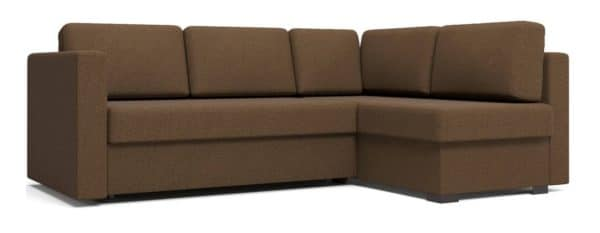 Угловой диван Джессика коричневый правый фото | интернет-магазин Складно