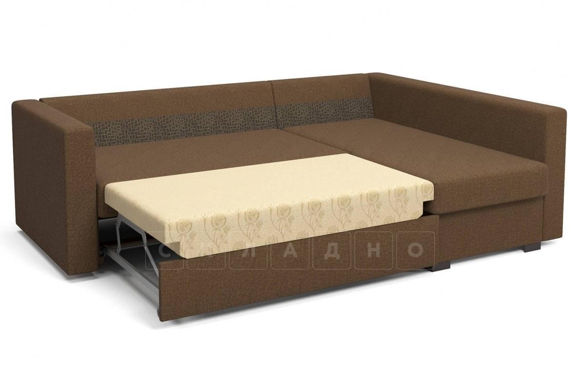 Угловой диван Джессика коричневый правый фото 5 | интернет-магазин Складно