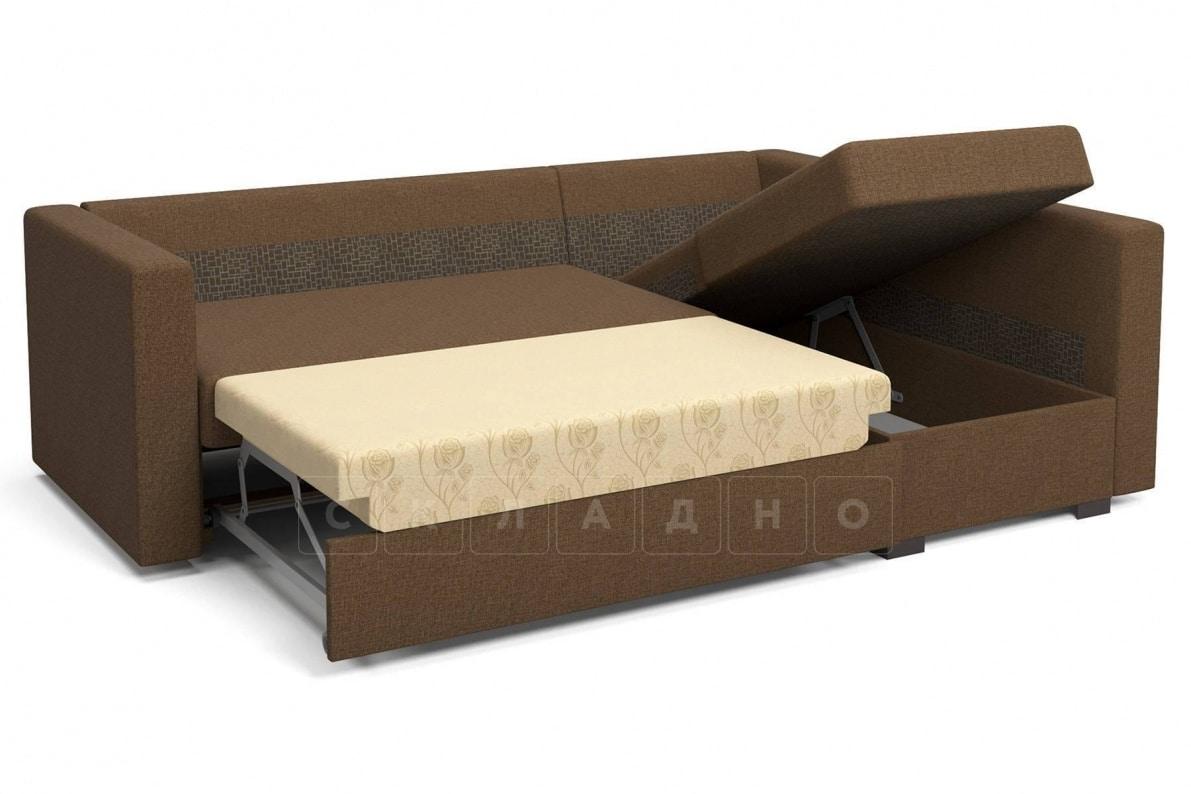 Угловой диван Джессика коричневый правый фото 6 | интернет-магазин Складно