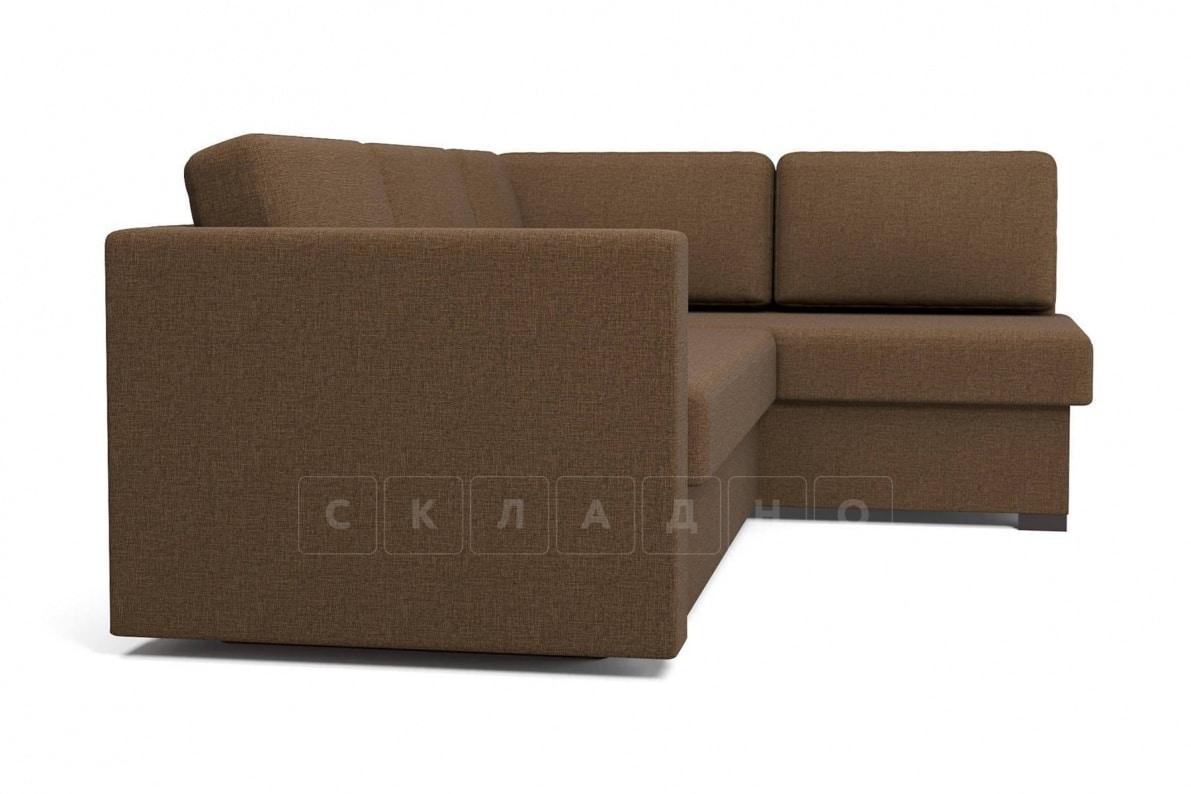 Угловой диван Джессика коричневый правый фото 3 | интернет-магазин Складно