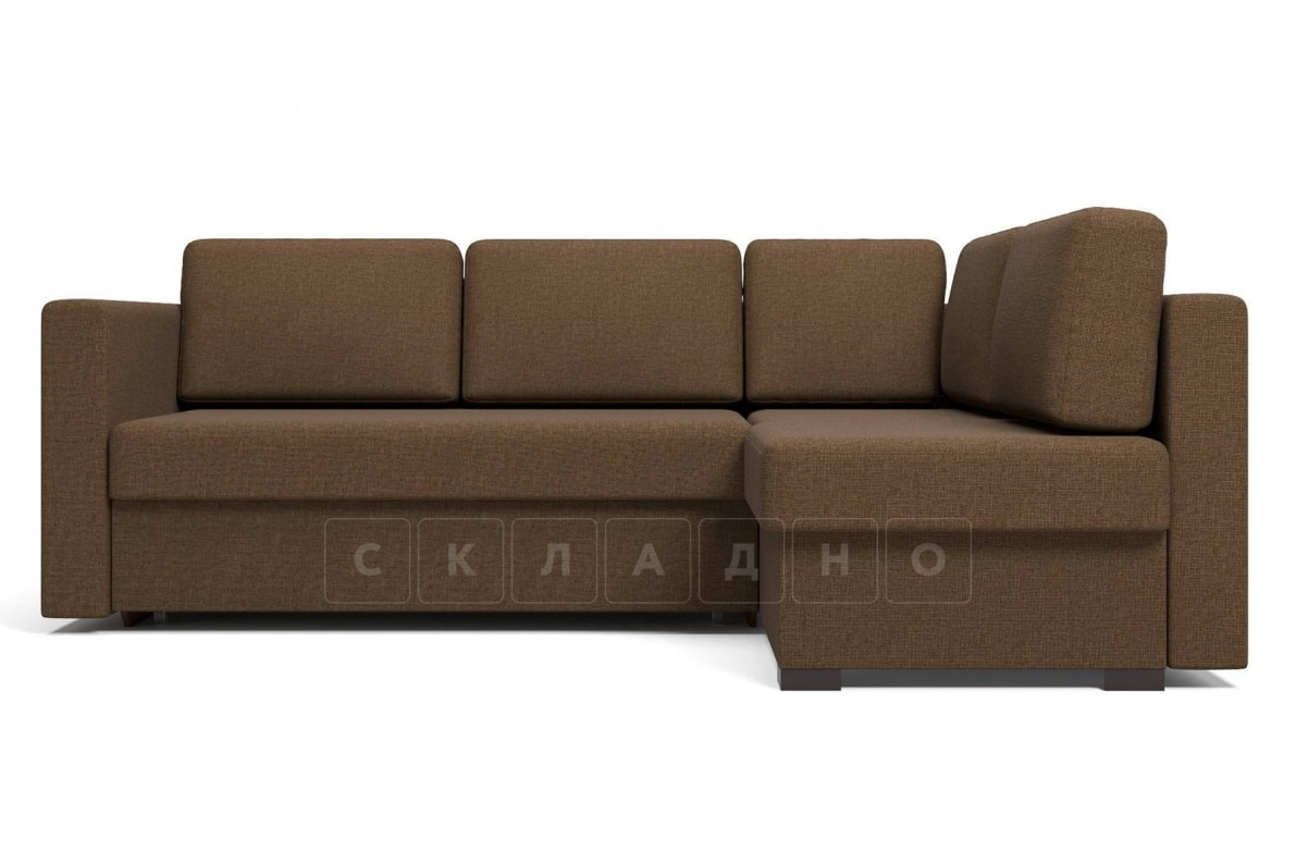 Угловой диван Джессика коричневый правый фото 2 | интернет-магазин Складно