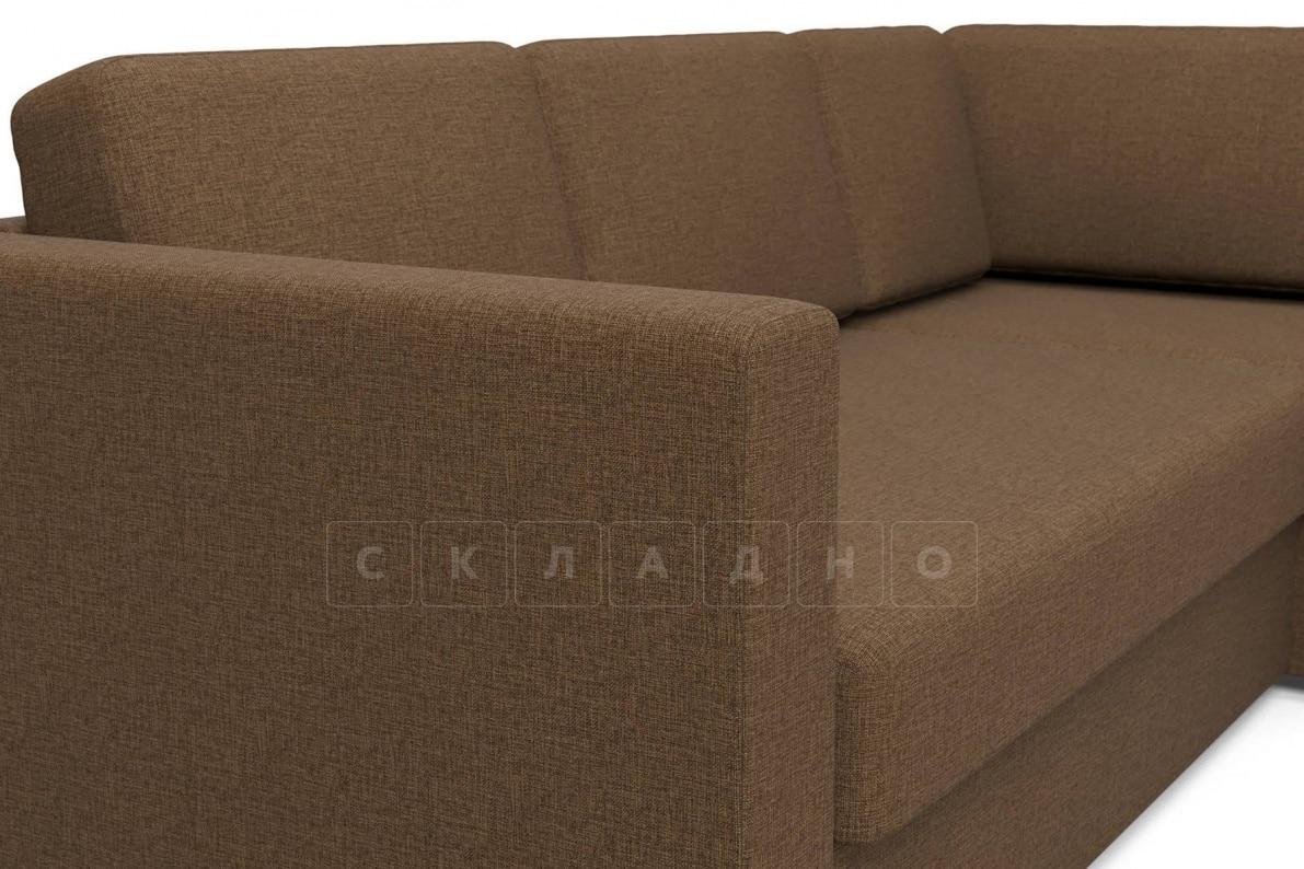 Угловой диван Джессика коричневый правый фото 4 | интернет-магазин Складно