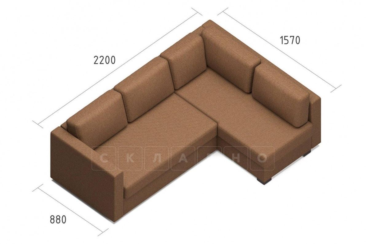Угловой диван Джессика коричневый правый фото 7 | интернет-магазин Складно