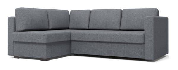 Угловой диван Джессика серый левый фото | интернет-магазин Складно