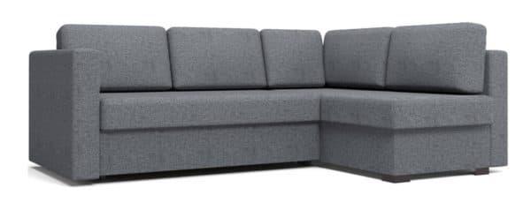 Угловой диван Джессика серый правый фото | интернет-магазин Складно