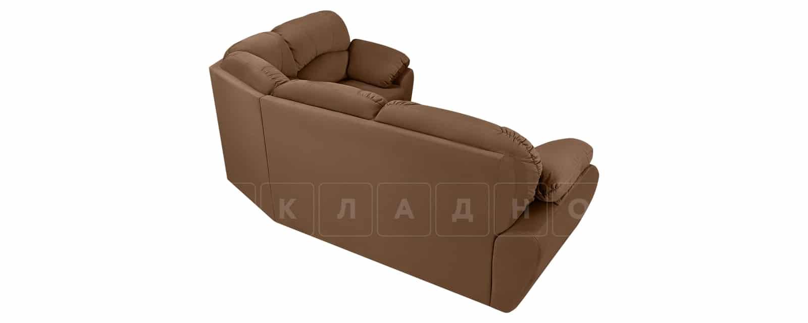 Угловой диван Эвита велюр коричневый левый угол фото 3 | интернет-магазин Складно