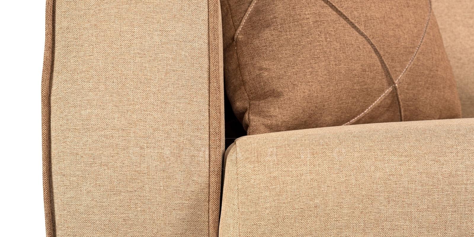 Диван Флэтфорд рогожка бежевый цвет фото 6 | интернет-магазин Складно