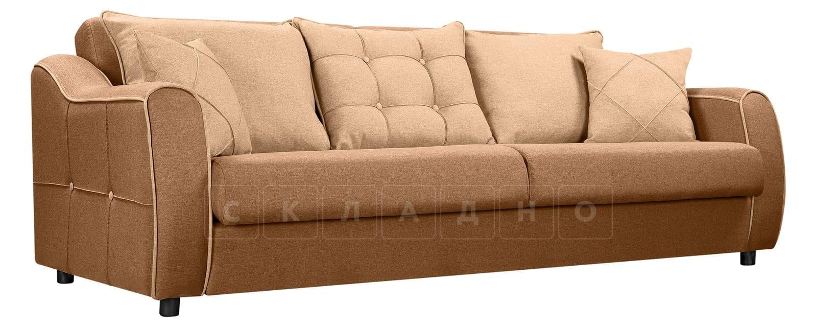 Диван Флэтфорд рогожка коричневый цвет фото 1 | интернет-магазин Складно