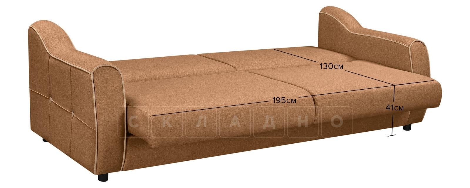 Диван Флэтфорд рогожка коричневый цвет фото 11 | интернет-магазин Складно
