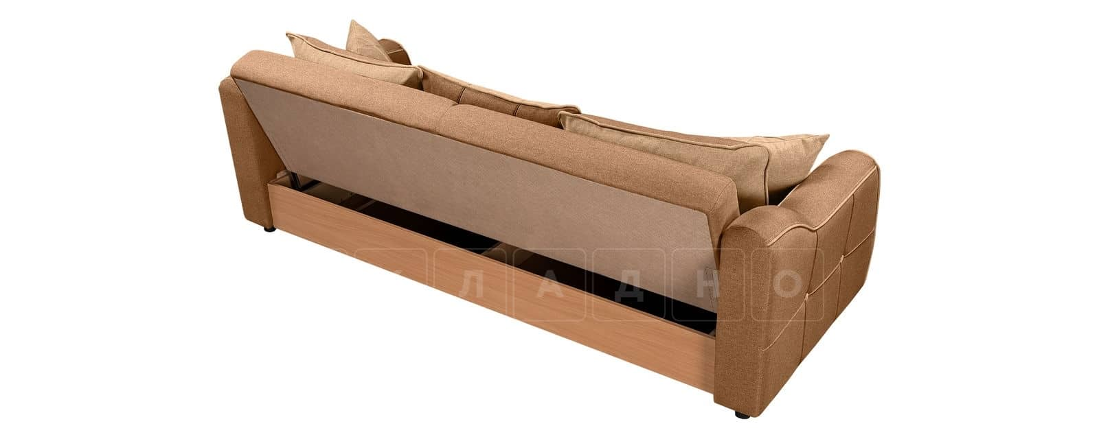 Диван Флэтфорд рогожка коричневый цвет фото 3 | интернет-магазин Складно