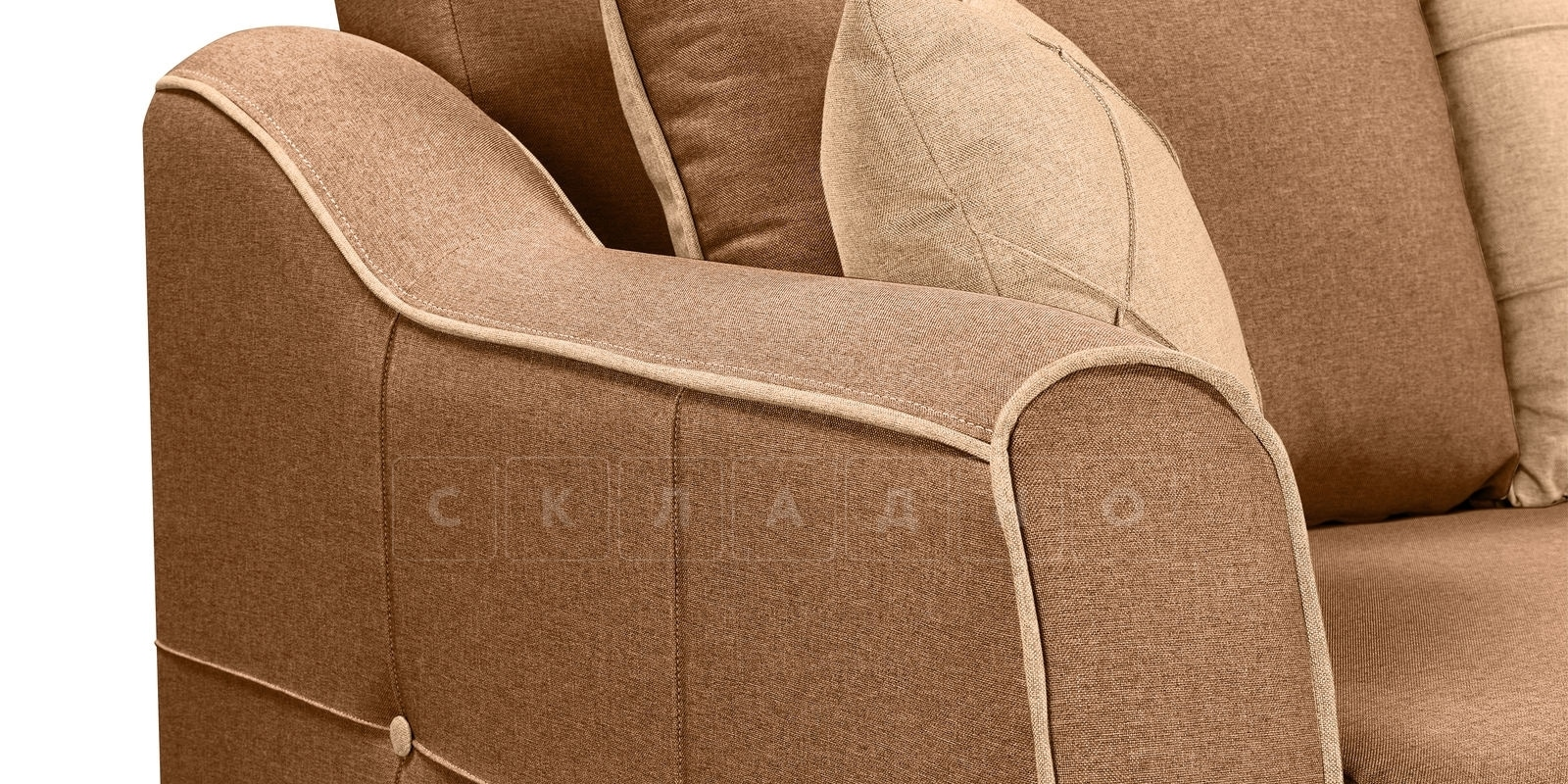 Диван Флэтфорд рогожка коричневый цвет фото 5 | интернет-магазин Складно