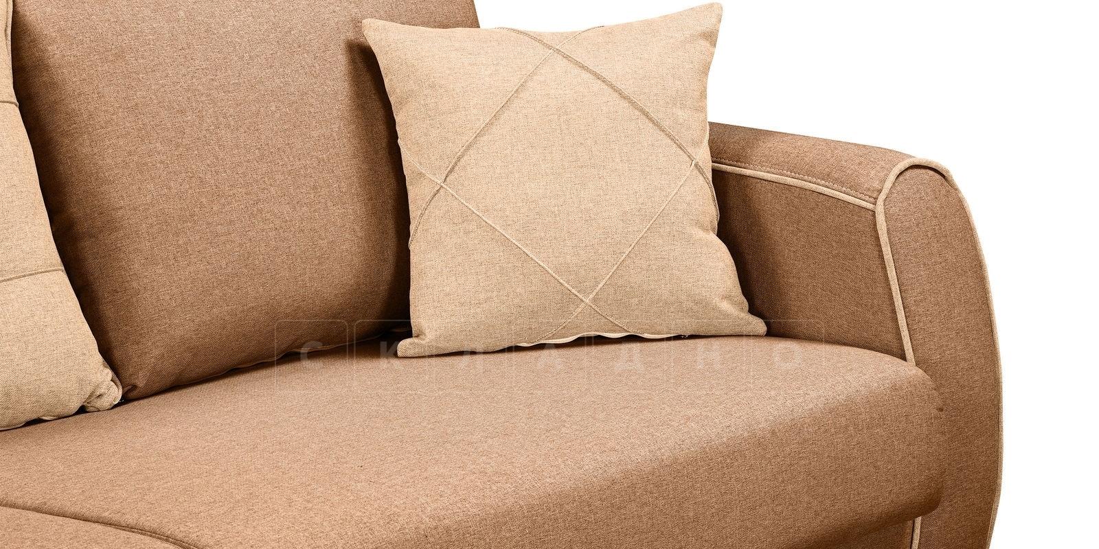 Диван Флэтфорд рогожка коричневый цвет фото 6 | интернет-магазин Складно