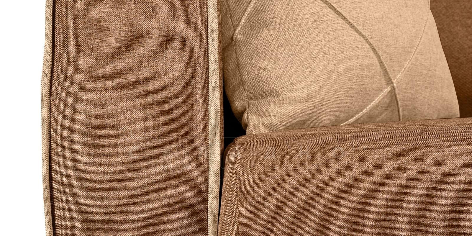 Диван Флэтфорд рогожка коричневый цвет фото 7 | интернет-магазин Складно