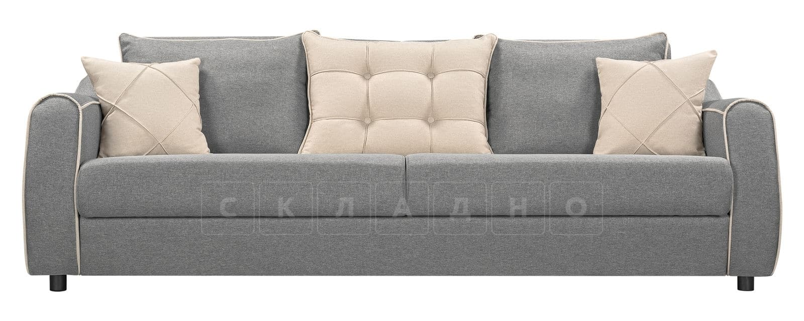 Диван Флэтфорд рогожка серый цвет фото 2 | интернет-магазин Складно