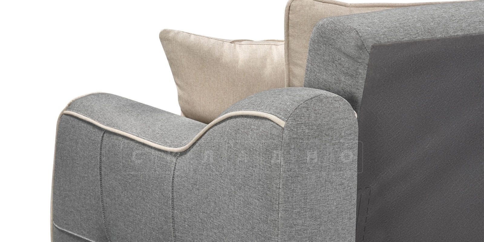 Диван Флэтфорд рогожка серый цвет фото 4 | интернет-магазин Складно