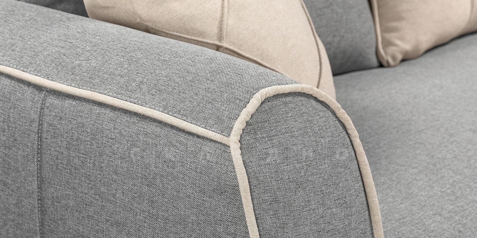 Диван Флэтфорд рогожка серый цвет фото 5 | интернет-магазин Складно