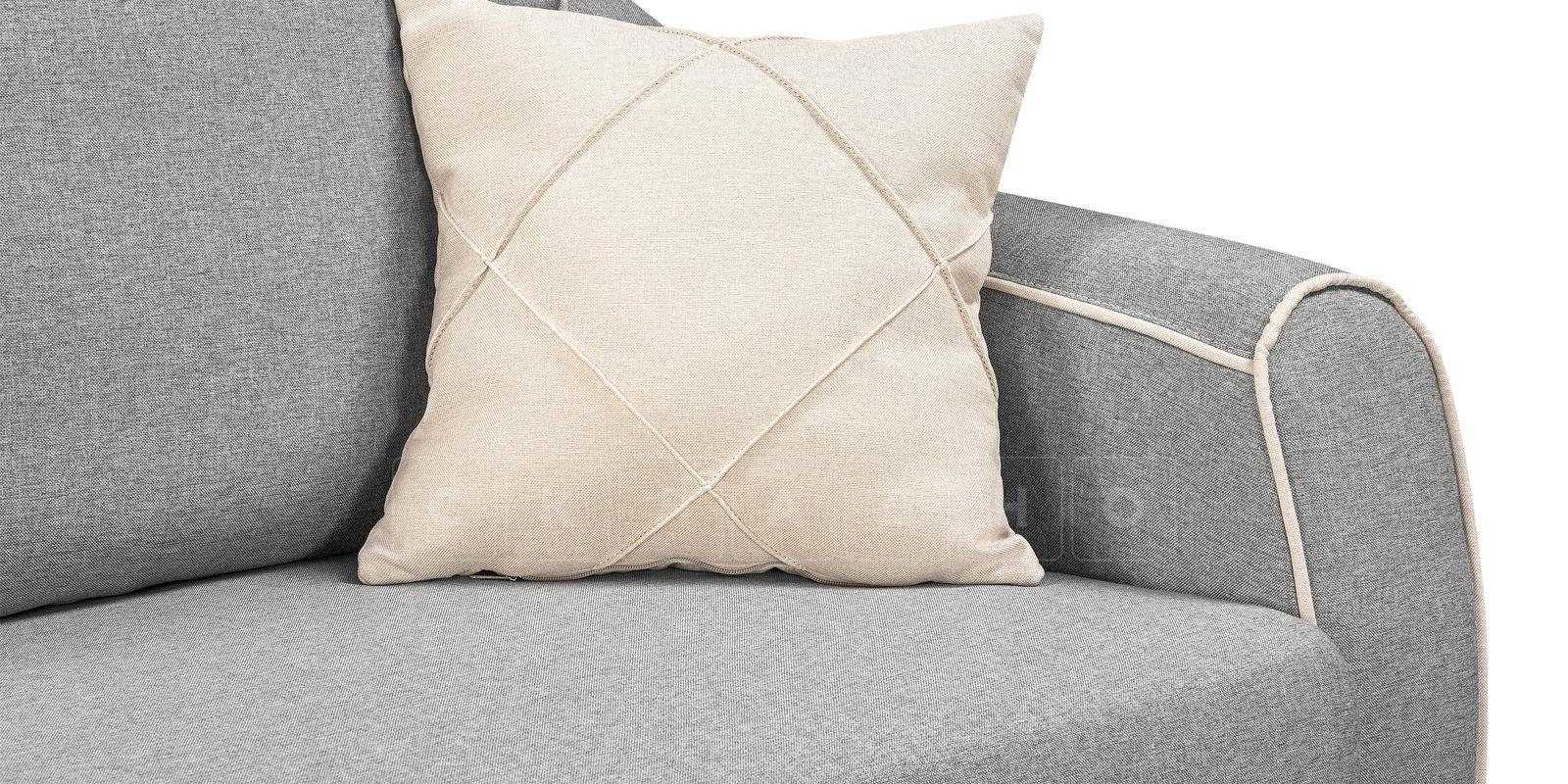 Диван Флэтфорд рогожка серый цвет фото 6 | интернет-магазин Складно
