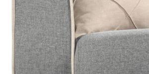 Диван Флэтфорд рогожка серый цвет 36950 рублей, фото 7 | интернет-магазин Складно