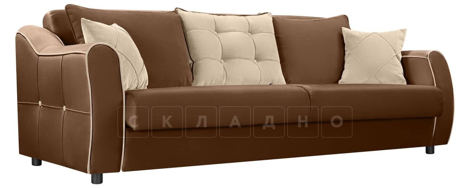 Диван Флэтфорд велюр коричневый фото 1 | интернет-магазин Складно
