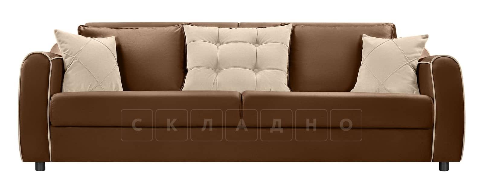 Диван Флэтфорд велюр коричневый фото 2 | интернет-магазин Складно