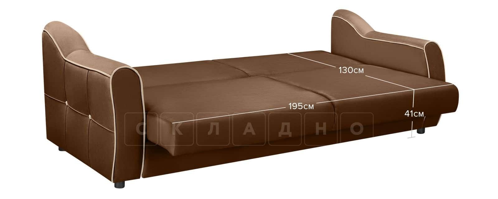 Диван Флэтфорд велюр коричневый фото 11 | интернет-магазин Складно