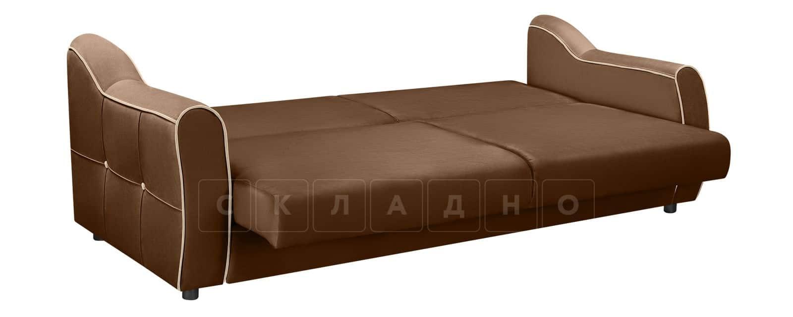 Диван Флэтфорд велюр коричневый фото 4 | интернет-магазин Складно