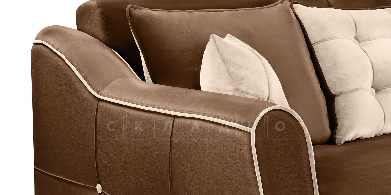 Диван Флэтфорд велюр коричневый фото 5 | интернет-магазин Складно