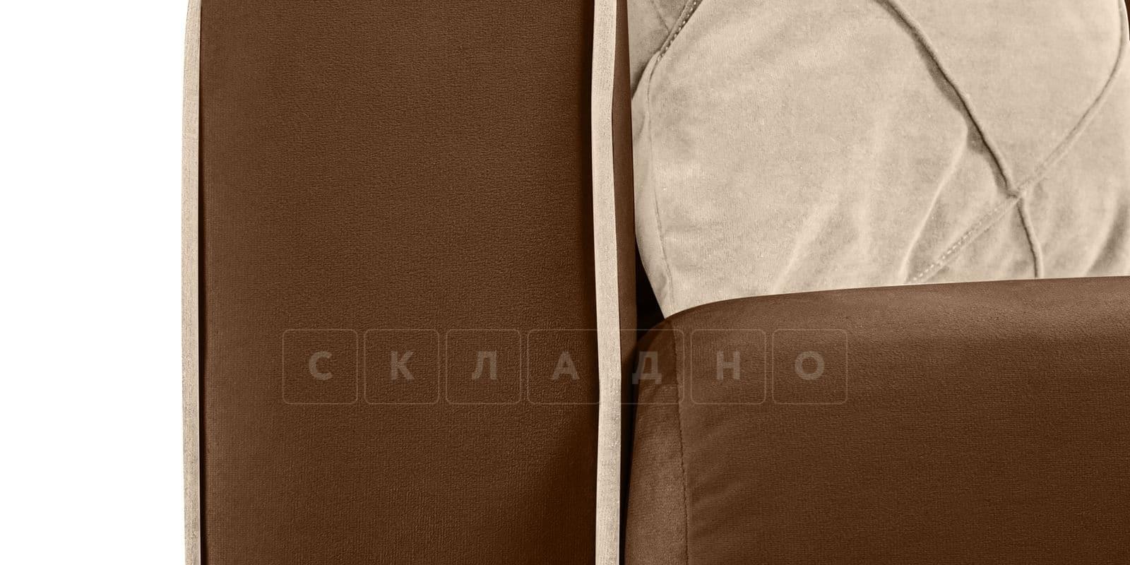 Диван Флэтфорд велюр коричневый фото 6 | интернет-магазин Складно