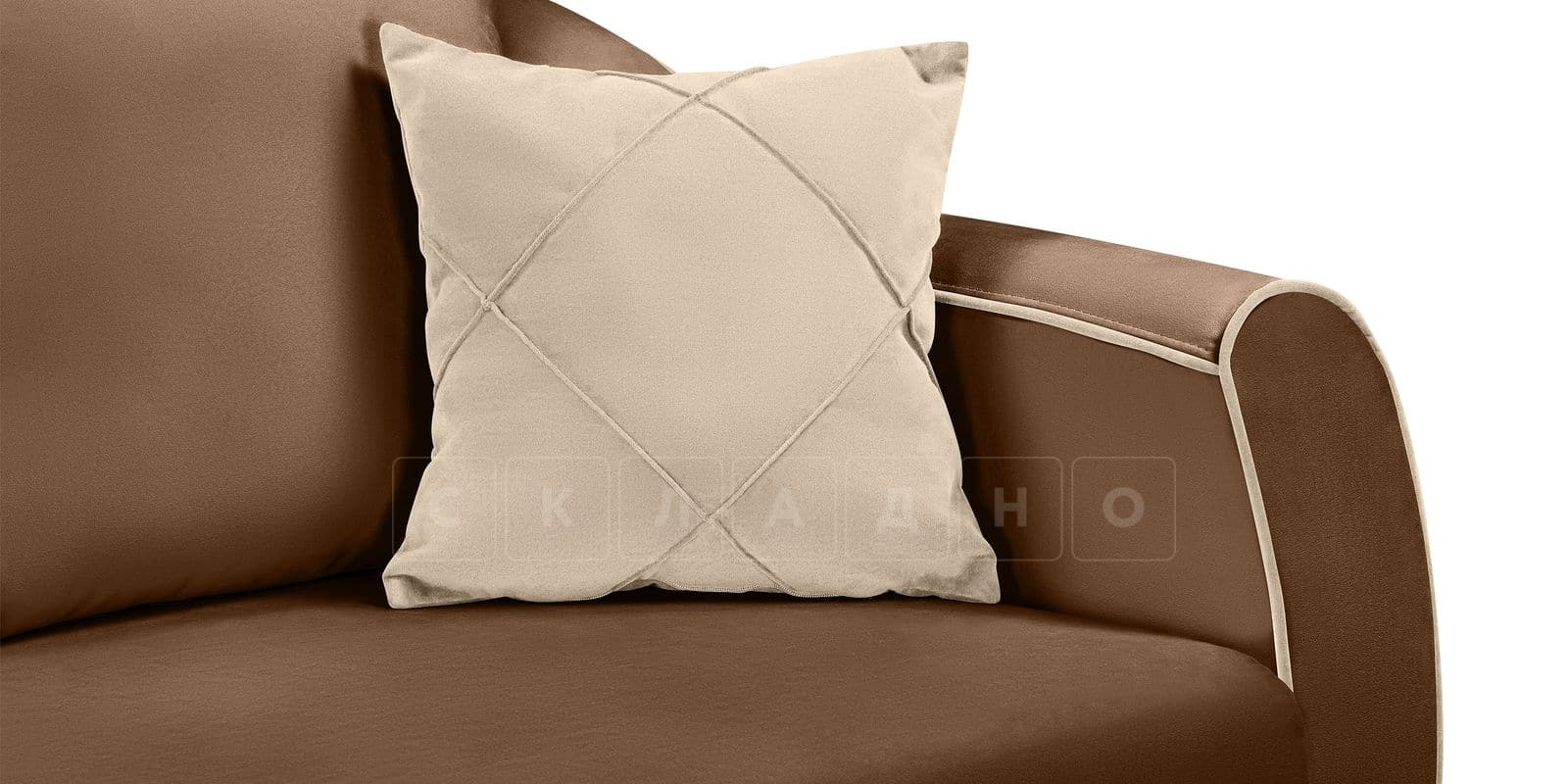 Диван Флэтфорд велюр коричневый фото 7 | интернет-магазин Складно