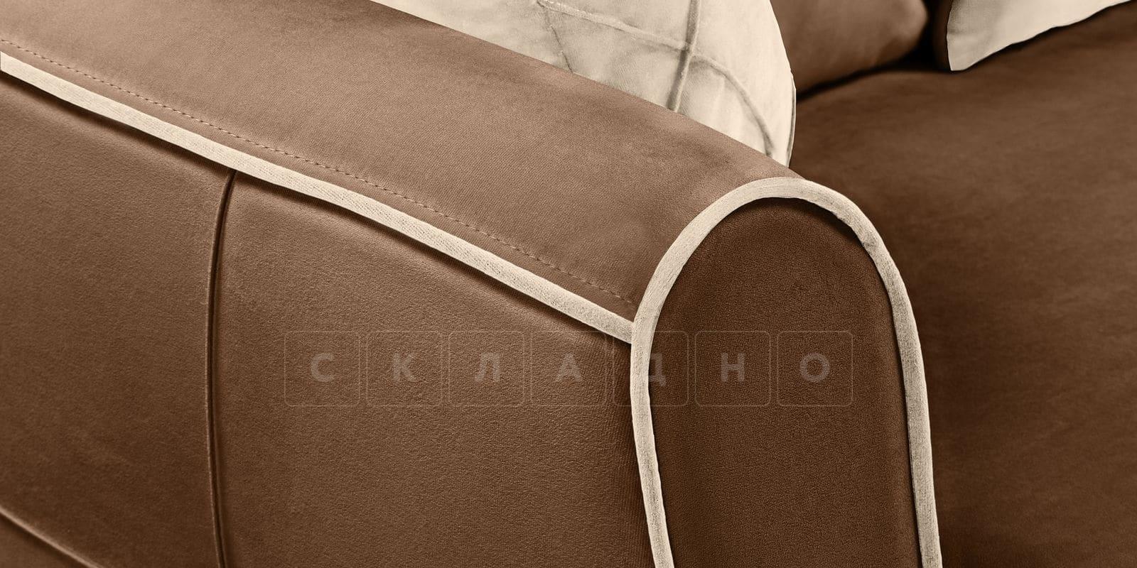Диван Флэтфорд велюр коричневый фото 8 | интернет-магазин Складно