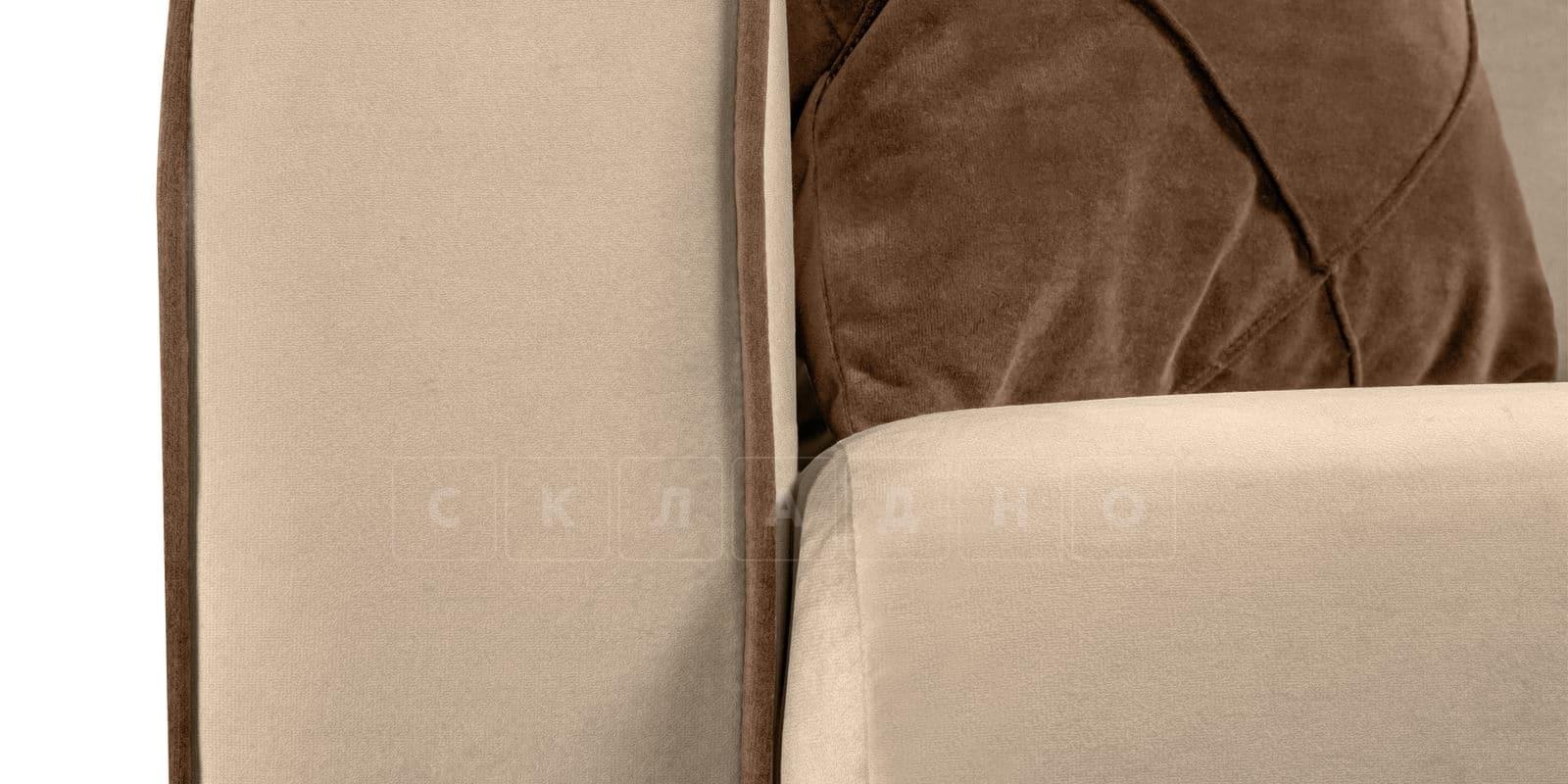Диван Флэтфорд велюр бежевый фото 6   интернет-магазин Складно