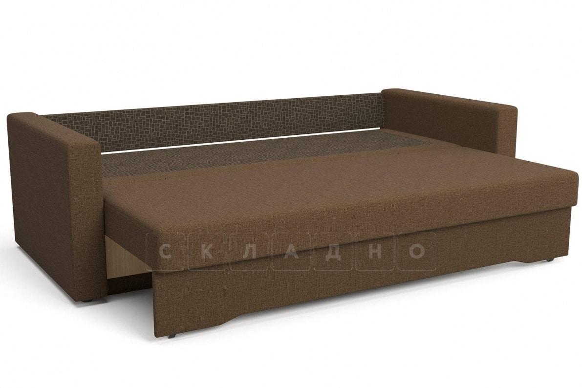 Диван еврокнижка Джесcика коричневый фото 5 | интернет-магазин Складно