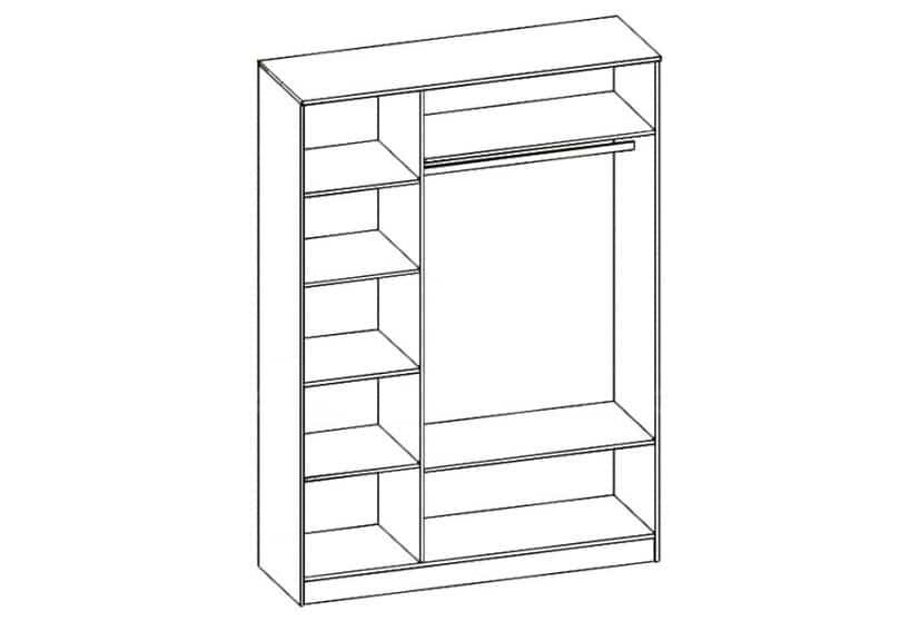 Шкаф распашной Карина-7 трехстворчатый фото 2 | интернет-магазин Складно