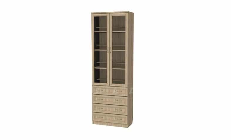 Книжный шкаф с ящиками 204 дуб сонома фото 1 | интернет-магазин Складно