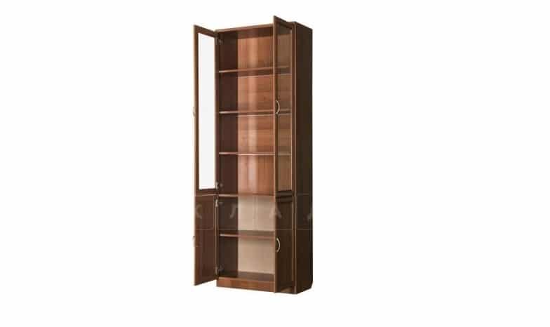 Книжный шкаф 206 венге с молочным дубом фото 2 | интернет-магазин Складно