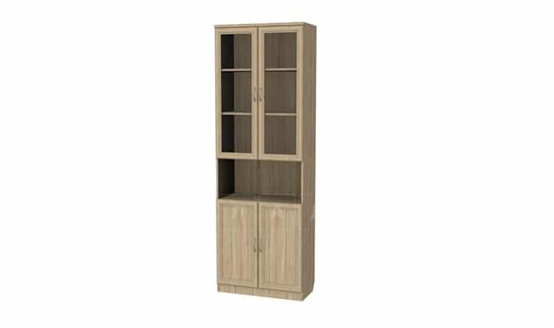 Книжный шкаф 207 дуб сонома фото 1 | интернет-магазин Складно