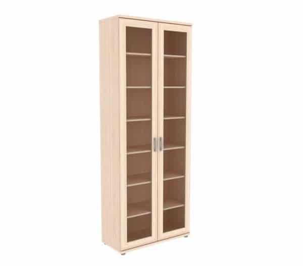 Книжный шкаф 502-02 молочный дуб фото | интернет-магазин Складно