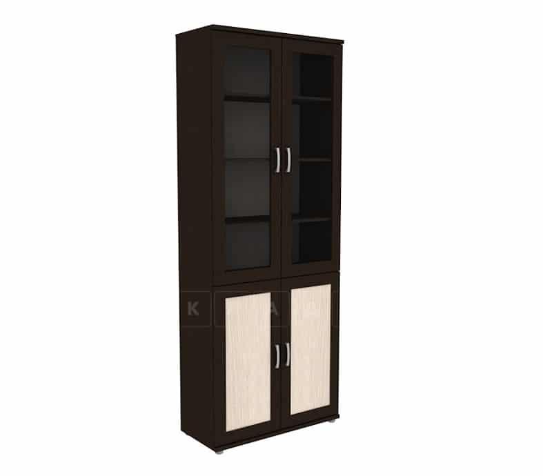 Книжный шкаф 502-05 венге с молочным дубом фото 1 | интернет-магазин Складно