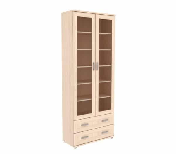 Книжный шкаф 502-09 молочный дуб фото | интернет-магазин Складно