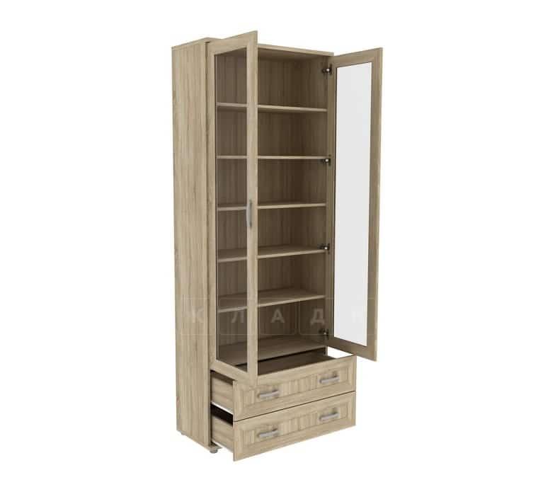 Книжный шкаф 502-09 дуб сонома фото 2 | интернет-магазин Складно