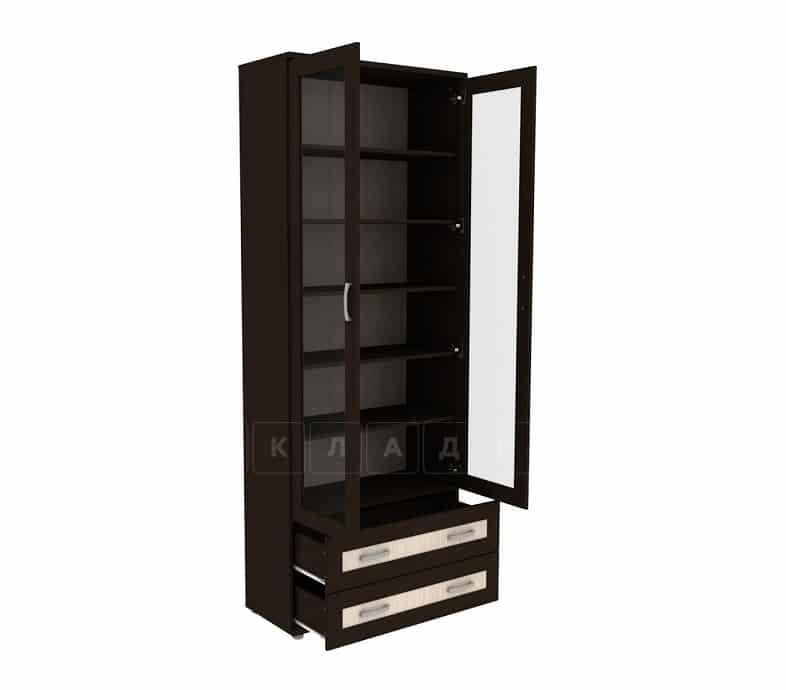 Книжный шкаф 502-09 венге с молочным дубом фото 2 | интернет-магазин Складно